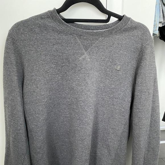 Gray champion crewneck sweater